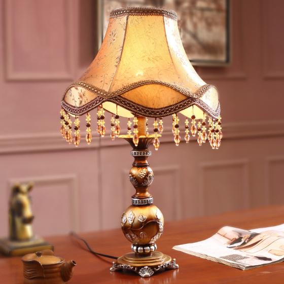 龙铭 美式艺术个性家居卧室床头台灯td-7006