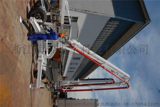 信瑞17米移动式液压混凝土布料机图片