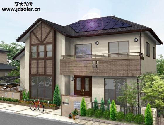 花园洋房别墅屋顶光伏发电