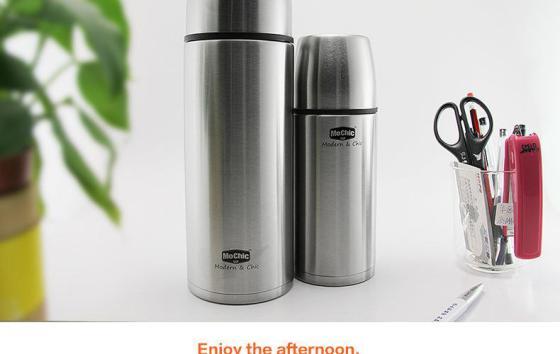 不锈钢保温杯 大容量1l保温水杯 mochic cup户外旅行暖水瓶