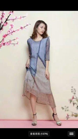 凯撒贝雷女装 大码真丝连衣裙紫馨源服饰到货 品牌折扣女装 尾货服