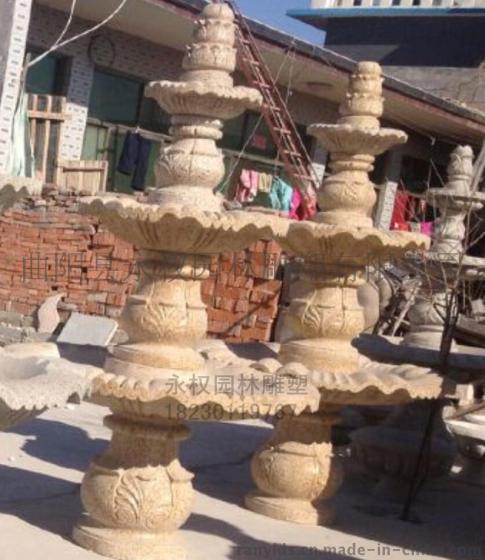 石头喷泉雕塑 别墅庭院装饰喷泉雕塑