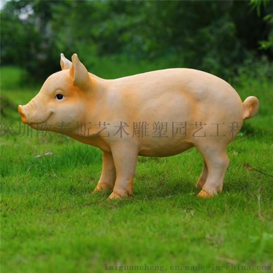 深圳欧泰斯艺术雕塑树脂工艺品园林摆饰动物吉祥物喜庆开张摆饰猪