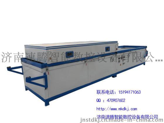 自动双工位真空覆膜机 PVC膜吸覆机 橱柜门板覆膜机多少钱一台图