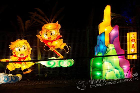 自贡传奇彩灯|动物灯组制作|灯会制作公司|设计自贡灯会