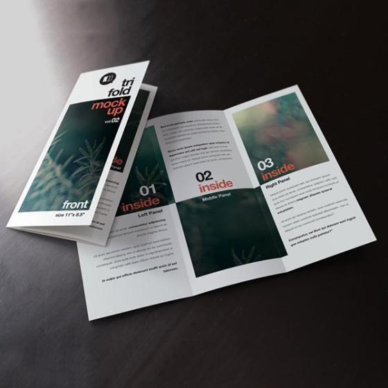 可变形的宣传册三折页优惠通知图片