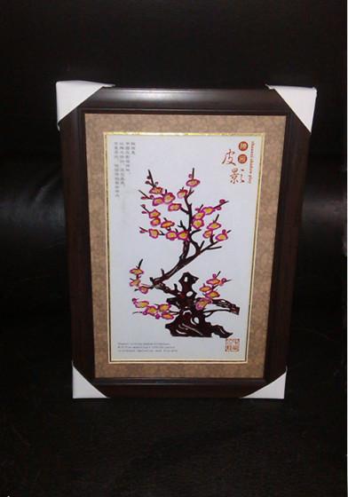 民间工艺品皮影装饰镜框皮影画动物人物画【批发价格