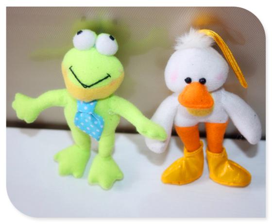 青蛙 鸭子毛绒公仔玩具