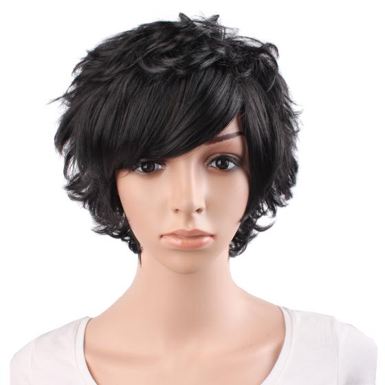 女士妈妈头短卷发直发中长发逼真蓬松减龄假发高清