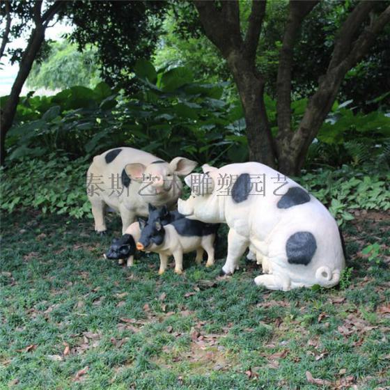 深圳欧泰斯玻璃钢树脂工艺品中号动物吉祥物家猪野猪