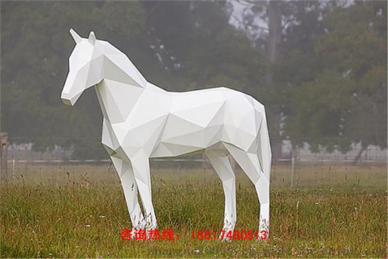 几何切面马雕塑,几何造型马雕塑摆件现货供应