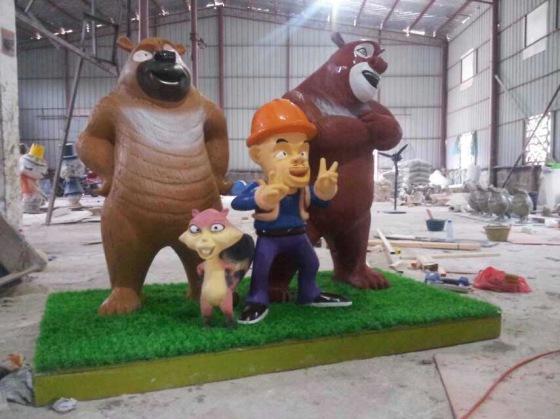 国产动漫展zs-xcm001熊出没卡通雕塑出租