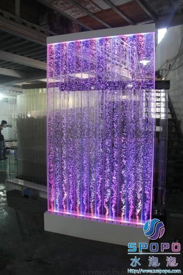火锅城定制水泡泡气泡墙 ,气泡屏风,冒泡水景屏风