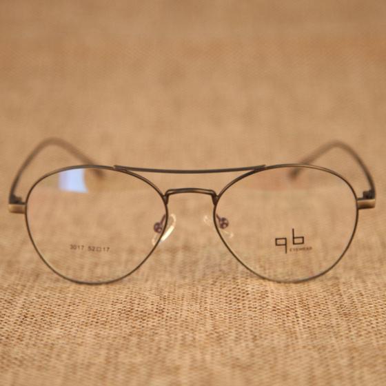 复古金属框架眼镜3017超轻眼镜经典圆框平光眼镜架框