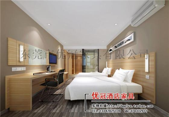 客房床+床头柜+床屏+电视柜+衣柜等宾馆家具定制