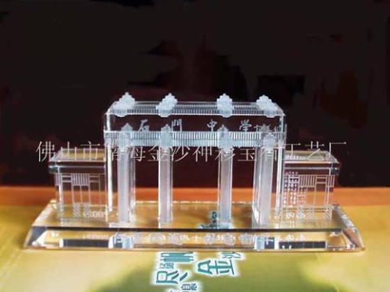 建筑物模型 水晶礼品  产品属性: 是否有现货:否|材质:人造水晶|制作图片