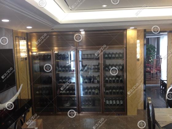 高级会所酒店大厅酒柜