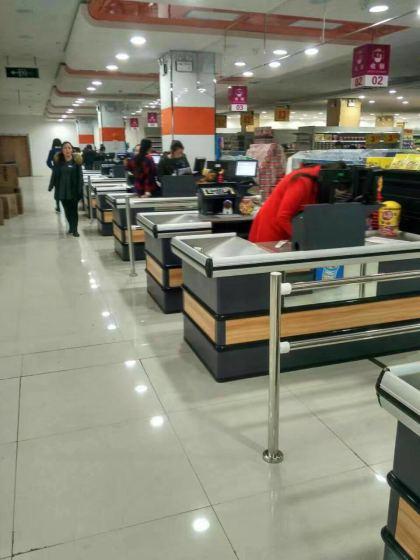 贵阳货架厂专业批发销售超市收银台图片