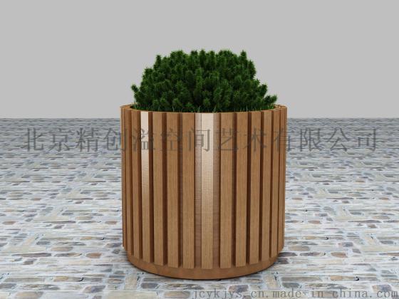 北京防腐木厂家专业设计制作各种规格防腐木花箱,防腐木花池,碳化木花
