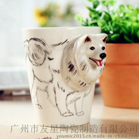 轻工日用品 杯具茶具酒具 普通杯子 纯手工陶瓷 3d立体彩绘陶瓷马克杯