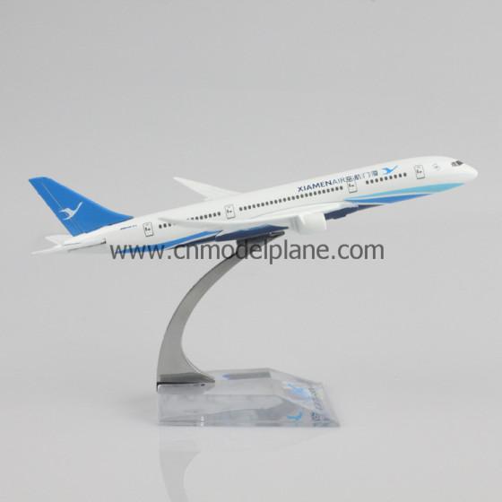 b787厦门航空16cm金属飞机模型