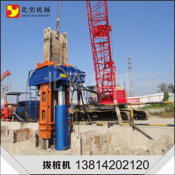 北奕机械by-bzj-700ls型h型钢液压ms工法大型拔桩机 拔桩机械价格图片