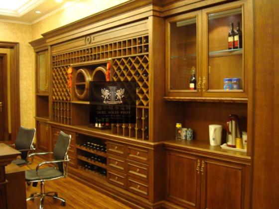 建筑和装饰材料 厨房家具 实木酒柜图片