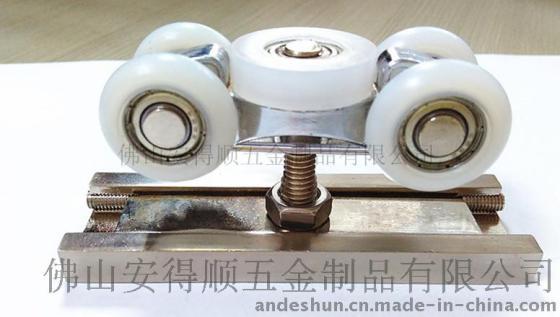 推拉门滑轮实木门趟门吊轮高档轻型移门顶装五金易安德五轮吊轮8017c