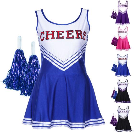 进口女学生啦啦队啦啦操服装足球宝贝 活动拉拉队服 性感表演服饰图片