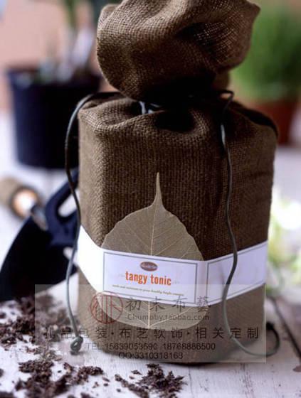 初末布艺设计制作帆布袋茶叶袋