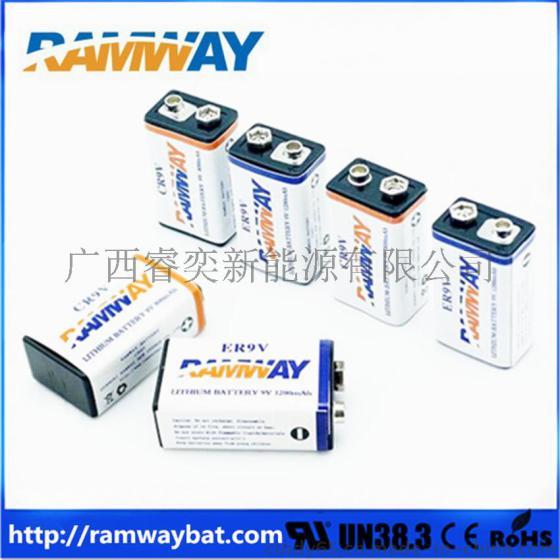 er9v锂电池 1200mah 9v图片