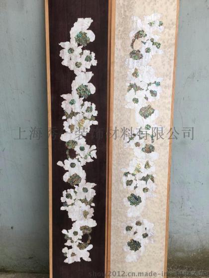 贝壳纸雕花家具 贝壳雕花工艺墙纸