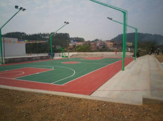 广西学校操场篮球场面漆羽毛球场地胶