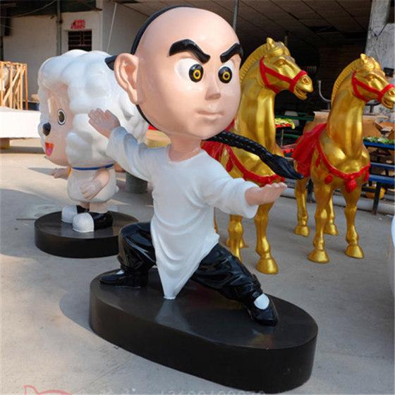 影视动漫卡通造型人物雕塑 商场展览互动区玻璃钢卡通