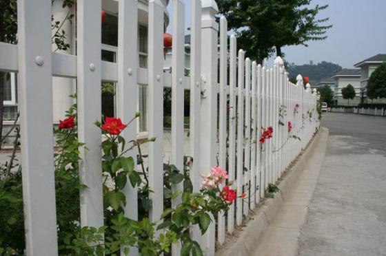 泉州围栏塑钢栏杆别墅围墙栅栏草坪绿化栏杆庭院隔离护栏图片,泉州