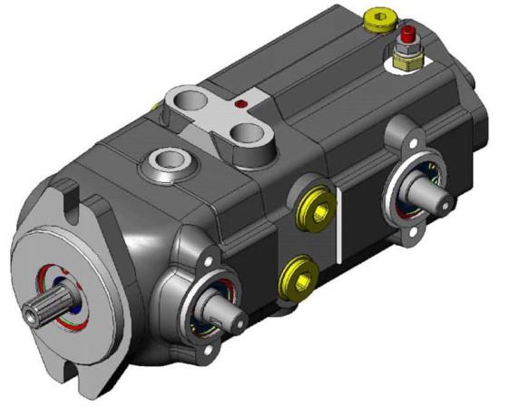 工业设备及组件 泵及真空设备 柱塞泵 静液压无级变速闭式柱塞泵图片