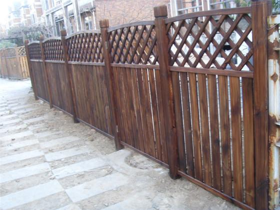庭院防腐木围栏,菜园种花栅栏,可定做图片