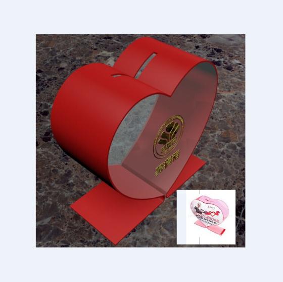 亚克力创意爱心型募捐箱-有机玻璃投票箱 意见箱