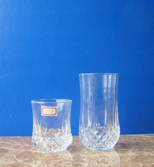 玻璃杯 花纹底口杯
