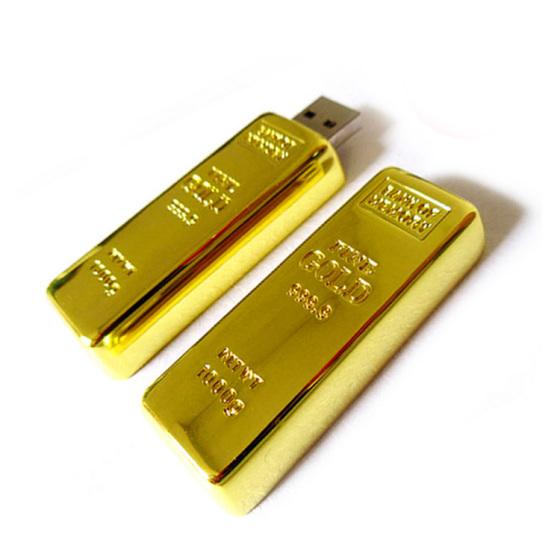专业为贵金属客户定制各种高档礼品金砖u盘|金条u盘