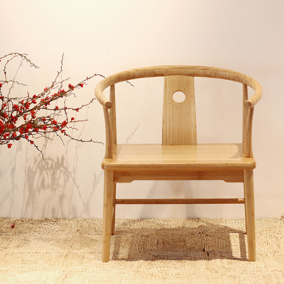 美时美器 竹家具创意家居简约中式复古椅 靠背休闲坐椅3560图片