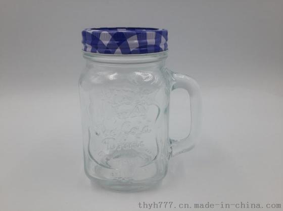 公鸡杯 玻璃杯 带把复古杯 水杯 果汁杯 咖啡杯 奶茶杯 把手杯