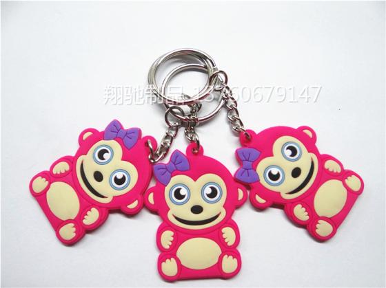 出口美国可爱小猴子钥匙扣