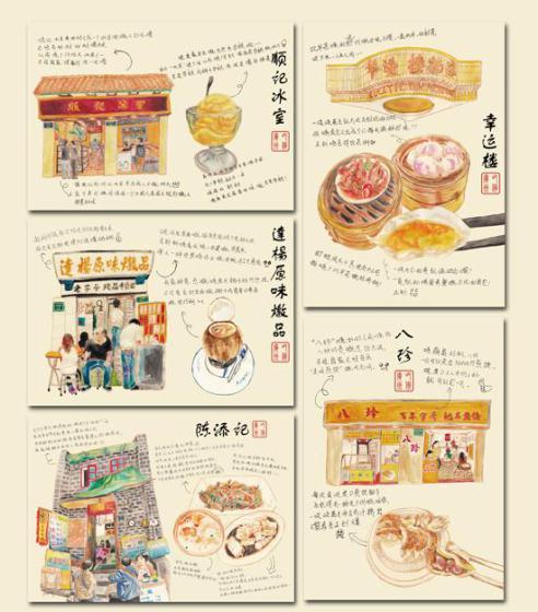 手绘明信片图片,手绘明信片高清图片-老广文化产品