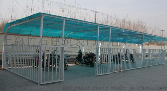 厂家直销自行车棚,单车棚,钢结构车棚,阳光雨棚,pc板停车棚