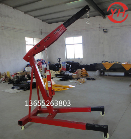 宇宏牌多用途液压小吊机车载式吊发动机千斤顶吊臂机悬臂吊简易轻便图片