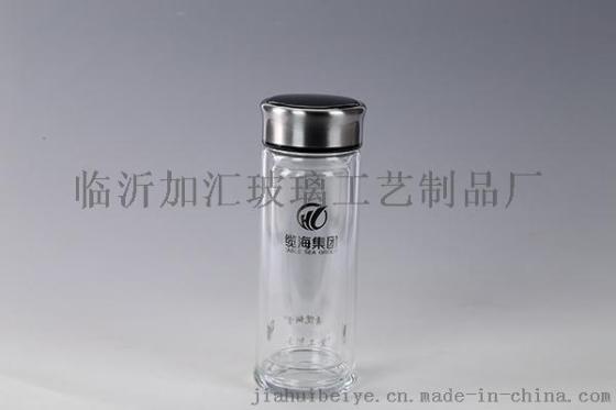 洛阳加汇双层玻璃杯印字广告杯印字定制口杯批发印LOGO玻璃杯厂