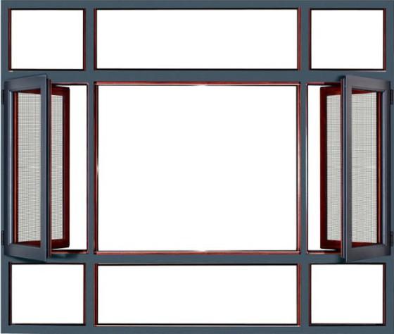 52铝合金平开窗图片,52铝合金平开窗高清图片-佛山市