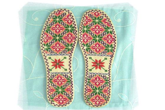 手工十字绣鞋垫图片,手工十字绣鞋垫高清图片-深圳市