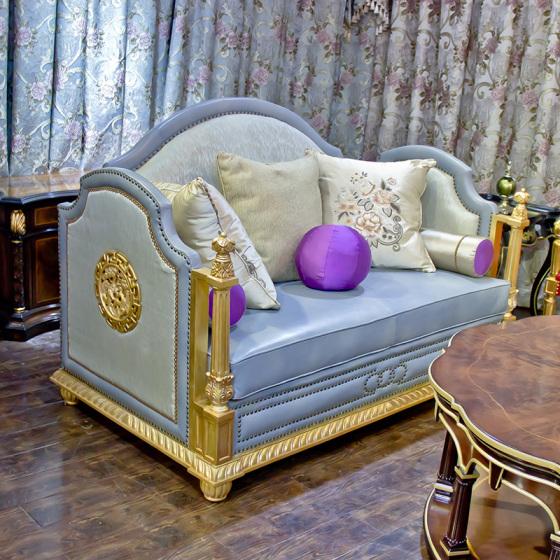 拉卡萨真皮纳迪娃新古典欧式沙发家具布艺沙发红木家具龙床图片